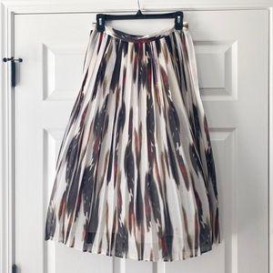 Banana Republic Midi Skirt Fall Multicolor Pleated